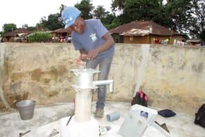 The Water Project: Tintafor Community, Shyllon Street -  Pump Installation