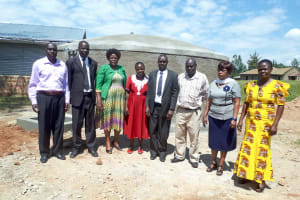 The Water Project: Kamuluguywa Secondary School -  Board Of Management At The Tank