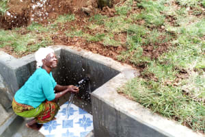 The Water Project: Mungaha B Community, Maria Spring -  Clean Water