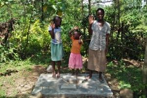 The Water Project: Ewamakhumbi Community, Yanga Spring -  Sanitation Platform
