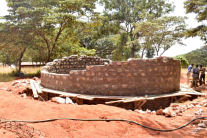 The Water Project: Ndoo Secondary School -  Tank Construction