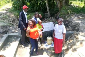 The Water Project: Muyundi Community, Baraza Spring -  Thank You