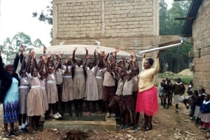 The Water Project: Lusiola Primary School -  Finished Tank