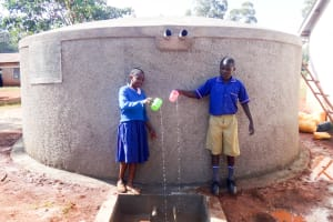 The Water Project: Viyalo Primary School -  Finished Tank