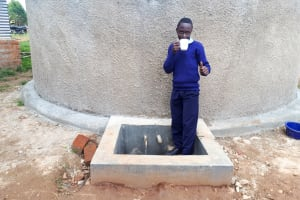 The Water Project: Kamuluguywa Secondary School -  Finished Tank