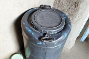 The Water Project: Mukoko Community, Mshimuli Spring -  A Water Storage Barrel