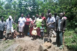 The Water Project: Ewamakhumbi Community, Yanga Spring -  Group Picture With Participants