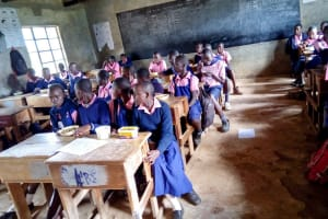 The Water Project: Friends Kaimosi Demonstration Primary School -  Students In The Classroom