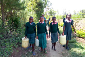 The Water Project: Mavusi Primary School -  Going To Get Water