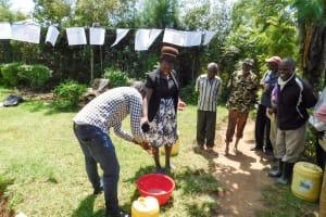 The Water Project: Chegulo Community, Werabunuka Spring -  Handwashing Training