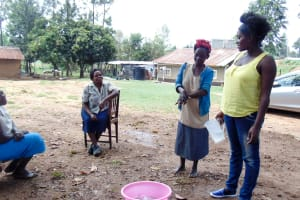 The Water Project: Isembe Community, Amwayi Spring -  Handwashing Training