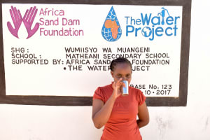 The Water Project: Matheani Secondary School -  Hilda Muumbi