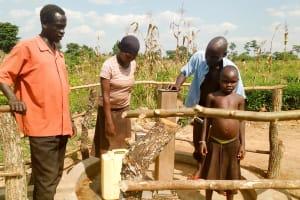 The Water Project: Alimugonza Pabidi Community -  Finished Well