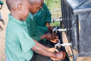 The Water Project: Kwa Kaleli Primary School -  Handwashing Has Been Embraced By Students