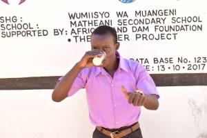 The Water Project: Matheani Secondary School -  Peter Kiilu