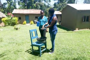 The Water Project: Muyundi Community, Baraza Spring -  Handwashing Training