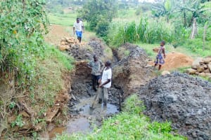 The Water Project: Isembe Community, Amwayi Spring -  Excavation