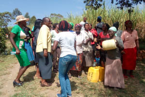 The Water Project: Indete Community, Udi Spring -  Celebration Break During Training