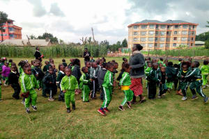 The Water Project: Green Mount Primary School -  Students Playing During Break