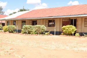 The Water Project: Kyanzasu Secondary School -  New Bushes And Trees Planted Along The Classrooms