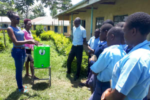 The Water Project: Kamuluguywa Secondary School -  Handwashing Training