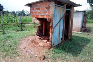 The Water Project: Friends Kaimosi Demonstration Primary School -  Broken Down Latrine