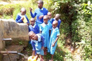 The Water Project: Shivanga Primary School -  Fetching Water From The Community