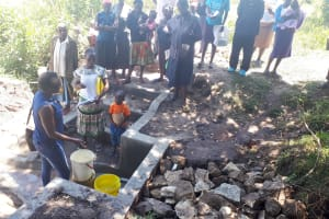 The Water Project: Muyundi Community, Baraza Spring -  Spring Care Training