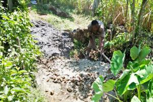 The Water Project: Ewamakhumbi Community, Yanga Spring -  Preparing To Mix Cement