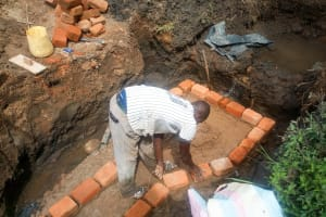 The Water Project: Isembe Community, Amwayi Spring -  Spring Construction