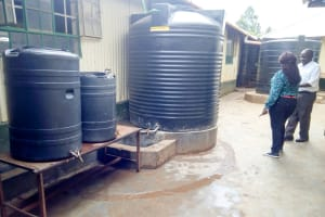 The Water Project: Green Mount Primary School -  Plastic Tanks