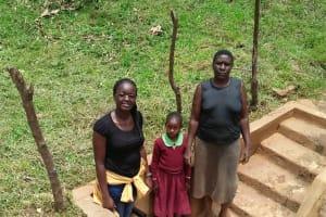 The Water Project: Lutonyi Community, Shihachi Spring -  Kenya Field Officer Olivia Bomji Michelle Andeka And Violet Khamalishi