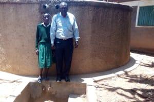 The Water Project: Essaba Primary School -  Deputy Headteacher John Amukowa And Magret Anyona