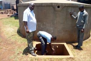 The Water Project: Ebukanga Secondary School -  Fetching Water