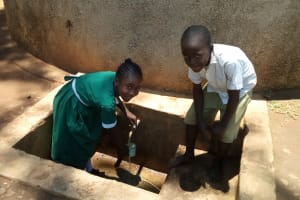 The Water Project: Esibuye Primary School -  Fetching Water