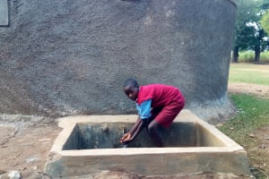 The Water Project: Emulakha Primary School -  Augustine Murunga Fetches Water