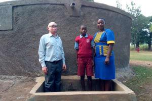The Water Project: Emulakha Primary School -  Deputy Head Teacher Cornel Kiliswa Makokha Augustine Murunga And Field Officer Betty Muhango