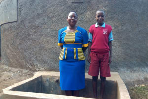 The Water Project: Emulakha Primary School -  Field Officer Betty Muhango And Augustine Murunga