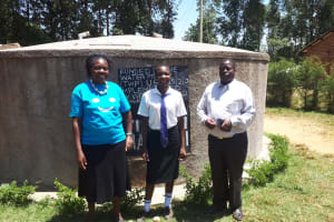The Water Project: Bumini Primary School -  Field Officer Mary Afandi Florence Ongola And Isa Matala