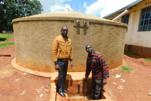 The Water Project: Tulon Secondary School -  Field Officer Wilson Kipchoge And Teacher Isaac Metto