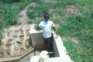 The Water Project: Lutali Community, Lukoye Spring -  Fidelis Shanguya