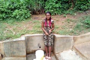 The Water Project: Handidi Community, Matunda Spring -  Fetching Water At Matunda Spring