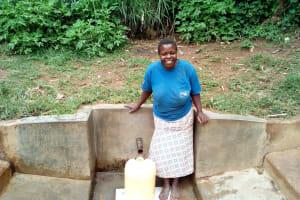 The Water Project: Handidi Community, Matunda Spring -  Magdalyne Wasambili