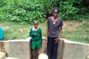 The Water Project: Handidi Community, Matunda Spring -  Samson Matunda And His Mother