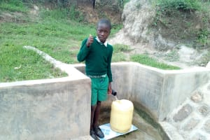 The Water Project: Mukhuyu Community, Shikhanga Spring -  Brighton Liruma