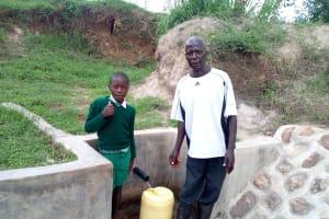 The Water Project: Mukhuyu Community, Shikhanga Spring -  Brighton Lirumba And Charles Ashikanga