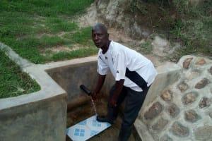 The Water Project: Mukhuyu Community, Shikhanga Spring -  Charles Ashikanga