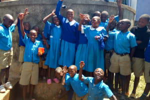 The Water Project: Eregi Mixed Primary School -  Cheers For Reliable Water