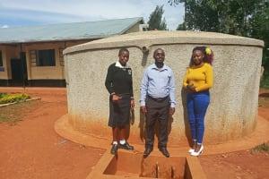 The Water Project: Evojo Secondary School -  Cynthia Avusha Bramuel Amudavi And Field Officer Faith Muthama