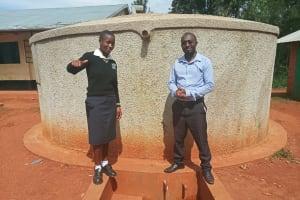 The Water Project: Evojo Secondary School -  Cynthia Avusha And Bramuel Amudavi